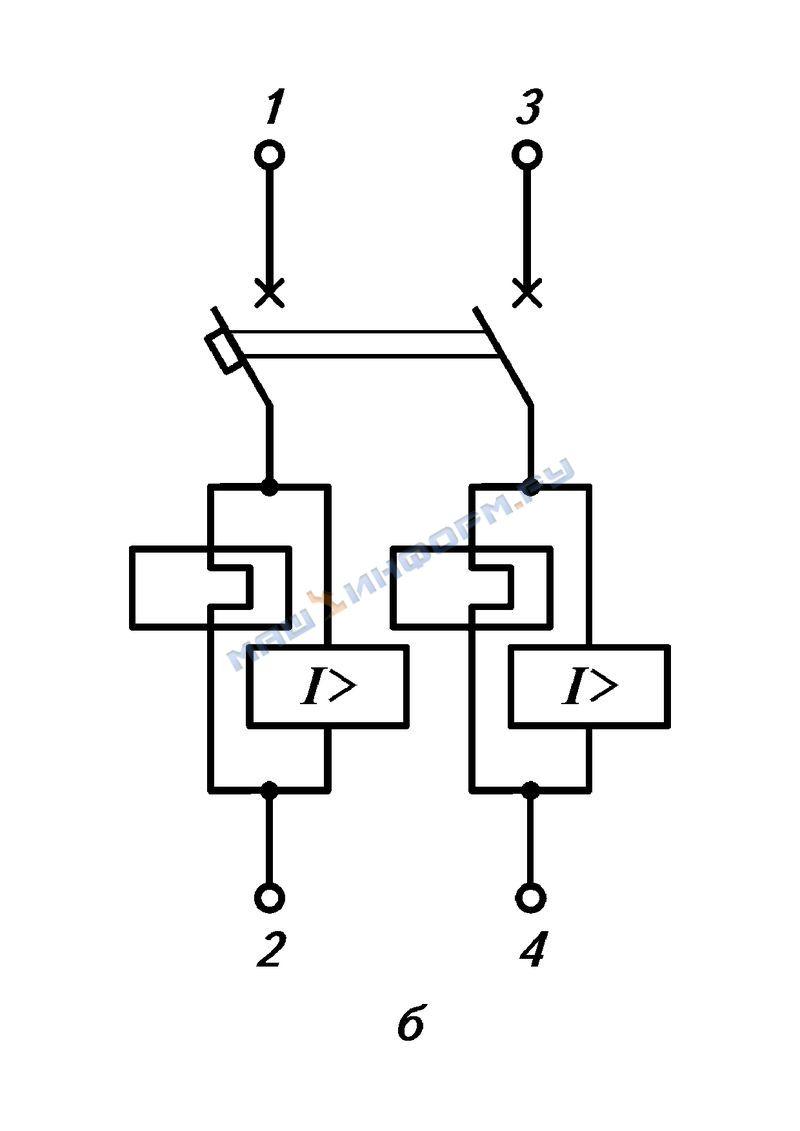 Электрические схемы ящиков с рубильником