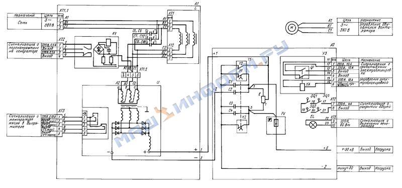 Электрическая схема генератора питания